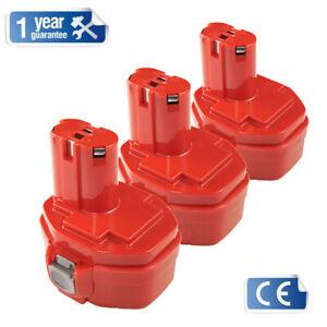3X Drill Power Tool Rechargeable  Batteries for Makita PA14 Ni-CD 14.4V 1.5Ah UK