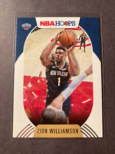 2020-21 Panini NBA Hoops Zion Williamson Base Card #163. New Orleans Pelicans.