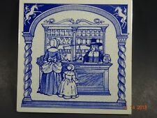 Hand Made  Delft Holland 6x6  Ceramic Collectible Tile 1988 - Pharmacy