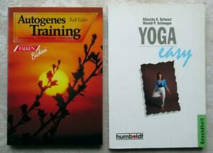 2 Bücher - Autogenes Training - Rolf Faller - Yoga Easy - Schwarz + Schweppe