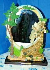 GOLDENVALE COLLECTIONS 90'S STANDING GIRAFFE MIRROR MOTHER/BABY FIGURINES RESIN