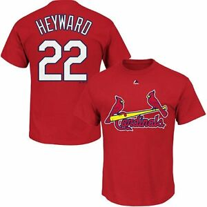 Majestic Jason Heyward St Louis Cardinals Youth Red Shirt Size M-XL NWT