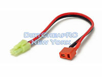 Charger Adapter Cable: Deans T-Plug Female to AIRSOFT Tamiya Mini Male LiPo Lead