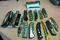Lot of 15 Knives Frost Cutlery Pocket Uniquely different Stainless surgical
