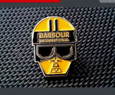 Vintage Barbour Motorcycle TT Pin Badge, McQueen, Casuals, Connoisseur, Minty