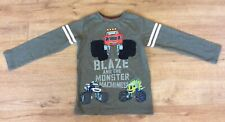 NEXT BLAZE & THE MONSTER MACHINES TOP, LONG SLEEVES, COTTON BLEND - AGE 4-5 YRS