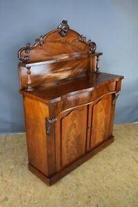 Victorian Chiffonier, Antique Mahogany Chiffonier, Sideboard, With Key