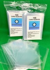 100- Sports trading card baseball  Soft Clear PLASTIC Penny Sleeves protectors