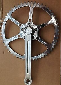 SunXCD 50.4BCD Single chainset with TA ring - Cyclotouriste, Stronglight 49D