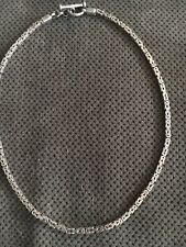 Vintage Ethnic India Sterling Silver Asian Tribal Celtic Chain Necklace Choker 9