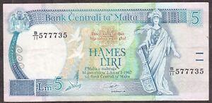 Malta 5 lire 1994 XF