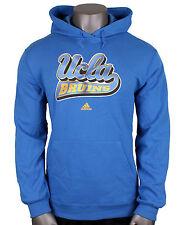 ADIDAS UCLA Bruins Logo Print Hoodie sz XL X-Large Blue Yellow Pullover Sweater