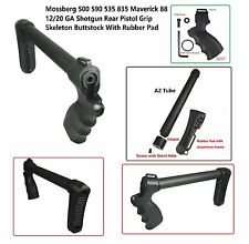 Mossberg 500 12/20 GA Rear Grip + Full SizeTube+ Skeleton Stock With Rubber Pad