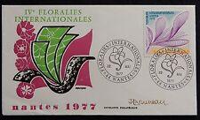10H* Enveloppe FLORALIES (Nantes) 1977 Timbre n°1931 (Signée)
