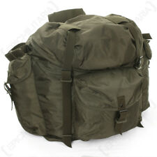 Original Austrian Olive Drab Rucksack - Army Surplus Backpack Bag Military Green