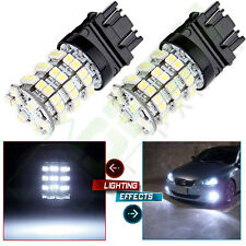 2x Super White 3157 4157 60-SMD LED Replacement For Car Tail Brake Lights bulbs