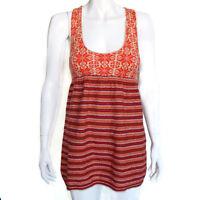 FREE PEOPLE Red Orange Knit Tunic Top Sz XS NWT