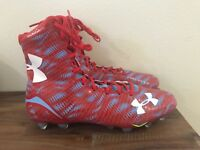 Under Armour UA Highlight MC Football Cleats Red/Blue 1258400-475 Men Sz 13