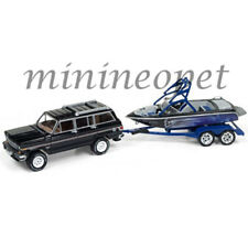 JOHNNY LIGHTNING GONE FISHING JLBT003 B 1981 JEEP WAGONEER with BOAT 1/64 BLUE