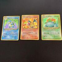 Charizard Venusaur Blastoise Pokemon Card Holos 3 pieces set