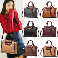 New Women's PU Leather Bag Tote Purse Shoulder Messenger Satchel Handbag