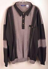 LD Sport Intl Mens Polo Shirt 4X Long Sleeve Multi color Black Gray Cotton Poly
