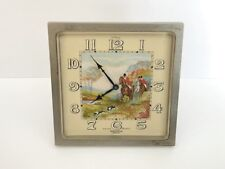 Antique Hunting Hand Painted HELVECO 8 days Swiss Clock Artist LuCAS Signed