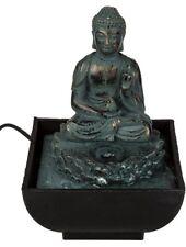 Polyresin-Zimmerbrunnen Zimmerspringbrunnen Tischbrunnen Brunnen Sitting Buddha