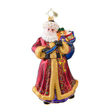 Christopher Radko - Unlock Christmas - Santa with Toys- Retired Ornament 1017062