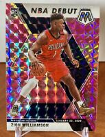 2019-20 Mosaic Zion Williamson NBA Debut Pink Camo Prizm Rookie RC Pelicans #269