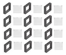 ☀️LEGO 12 NEW Dark Bluish Gray 1 X 4 X 3 WINDOWS GLASS TOWN CITY HOUSE PIECES