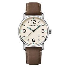 Wenger Men's Watch Urban Metropolitan Beige Dial Brown Leather Strap 01.1741.118