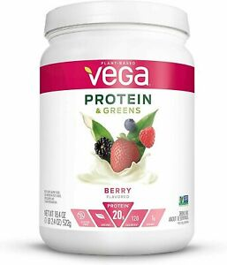 Vega Protein & Greens Berry (18 Servings, 1.15 lb) - Plant Based Protein