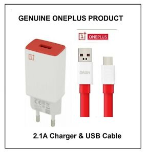 Genuine OnePlus EU 2-Pin Mains 2.1A  AY0520 & USB Type-C Cable Various Options