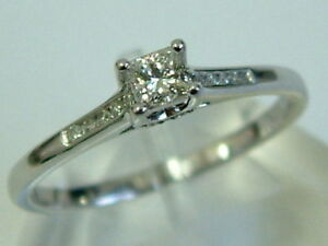 18CT WHITE GOLD PRINCESS FOREVER DIAMOND SOLITAIRE RING - 0.35CARATS - RRP £1599