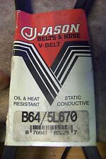 NEW Jason Industrial B64/5L670 V-Belt