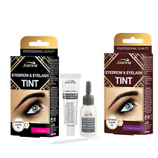 Joanna Henna Eyebrow Tint Black Brown Cream Eyelash Full Dye Lash Kit SET 15ml