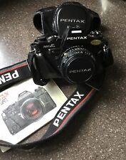 Pentax Super-A 35mm SLR Film Camera Bundle
