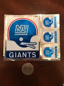 NEW YORK GIANTS FOOTBALL TEAM  ISSUED STICKER / DECAL 1970'S VINTAGE Super Rare