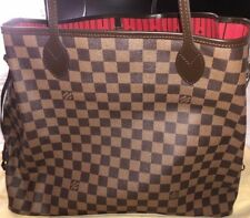 f809078063e NEW! AUTH Louis Vuitton NEVERFULL GM in Damier Ebene Canvas w  RECEIPT  N51106