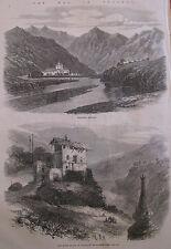 Views of The War In Bhutan Panakha 1866 Illustrated London News