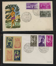 Spain 2 nice cachet colonies covers Ms0628