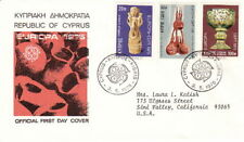 1976 Republic of Cyprus Fdc Cachet Cover - Antiquities