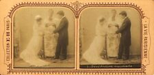 STEREOSCOPIE Stereoview E..H PARIS BENEDICTION NUPTIALE