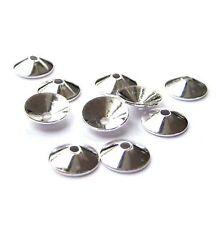 10 Stück Halblinsen spitz 4 mm 925 Silber Schmuckzubehör Zwischenteile