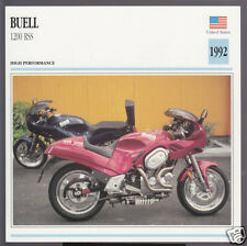 1992 Buell 1200cc RSS (1203cc) Harley-Davidson Sportsman Motorcycle Photo Card