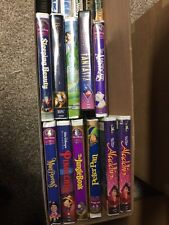 Disney VHS Collection Lot Set Aladdin Fantasia Peter Pan Etc. 29 Total Some Rare