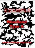 Woodland BDU Type Cerakote Duracoat Airbrush Spray Paint Stencil Camo Camouflage