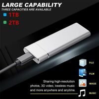 Mini USB 3.1 External SSD Solid State Drive 1TB 2TB Portable Mobile Hard Drive