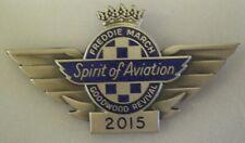 GOODWOOD REVIVAL 2015 Enamel Lapel Pin Badge FREDDIE MARCH SPIRIT OF AVIATION
